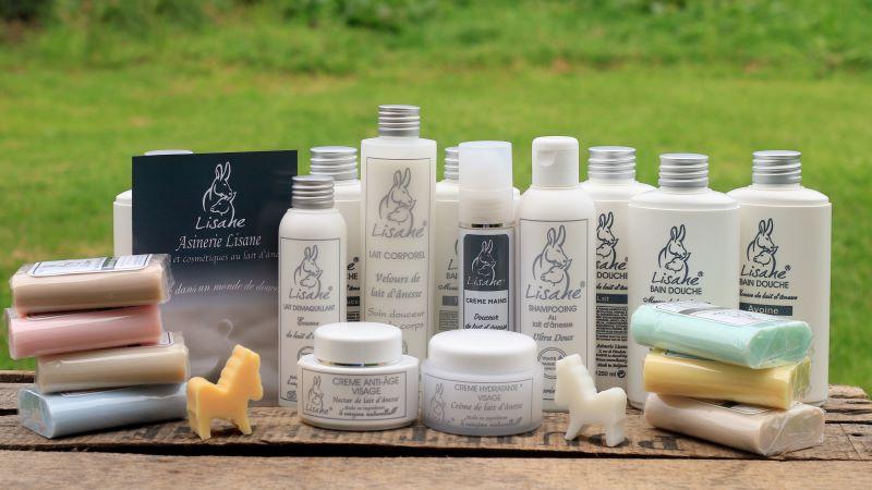 Gamme savons et cosmétiques au lait d'anesse Lisane