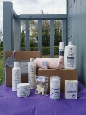 box produits de beauté au lait d'ânesse