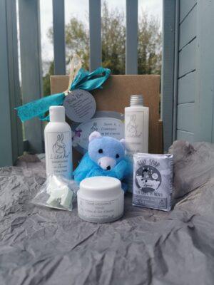 box produits de beauté au lait d'ânesse pour enfants